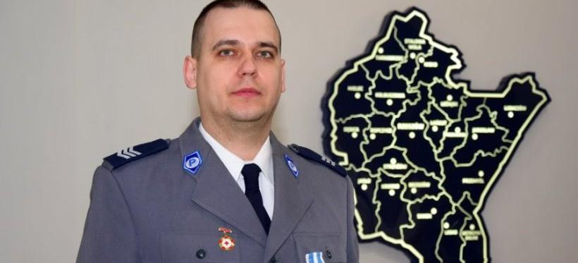 Policjant KWP w Rzeszowie odznaczony za oddawanie krwi!
