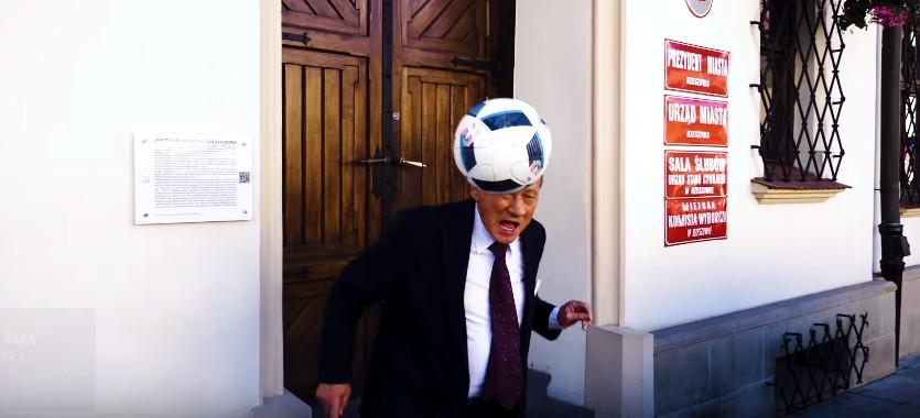 Prezydent Rzeszowa w filmiku Stali Rzeszów (WIDEO)