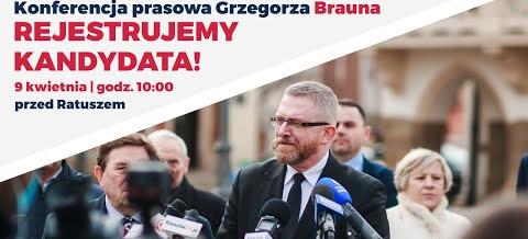 POSEŁ Grzegorz BRAUN zarejestrował kandydaturę na Prezydenta Rzeszowa – konferencja prasowa