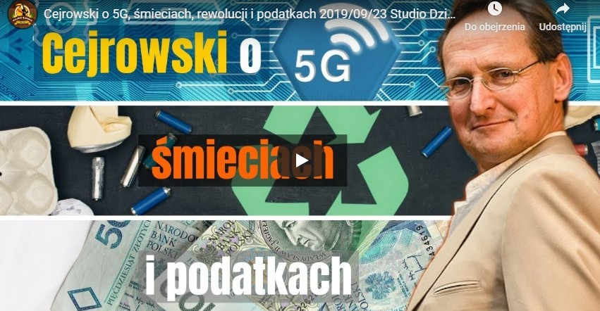 Cejrowski o 5G, śmieciach, rewolucji i podatkach (VIDEO)