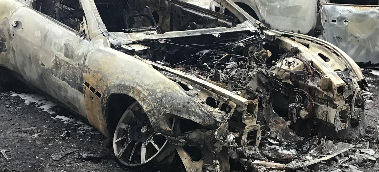 Nad Sanem spłonęły trzy samochody! (VIDEO, ZDJĘCIA)