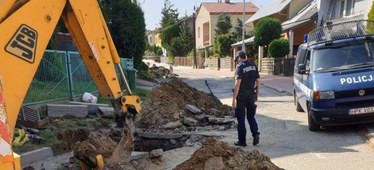 JAROSŁAW: Koparka uszkodziła gazociąg