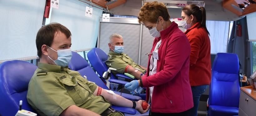 Podkarpaccy strażnicy graniczni oddali krew (FOTO, WIDEO)