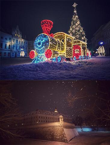 Nocny Rzeszów w zimowej odsłonie! (ZDJĘCIA)