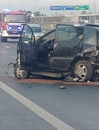 ŁAŃCUT: Ukrainiec spowodował wypadek na autostradzie (ZDJĘCIA)