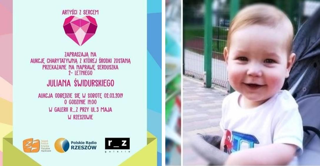 SERCE JULKA: Artyści z Sercem zapraszają na aukcję charytatywną dla małego sanoczanina