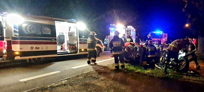 Wypadek w Bliznem. Ranny motocyklista (ZDJĘCIA)