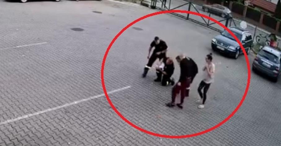 Dramatyczne sceny. Niemowlę się zakrztusiło! Strażacy ruszyli na pomoc (NAGRANIE VIDEO)