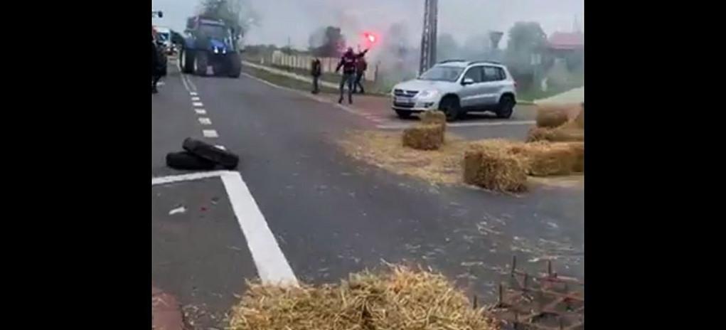Protesty rolników na drogach Podkarpacia! (VIDEO)