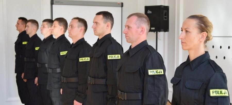Nowo przyjęci policjanci złożyli ślubowania