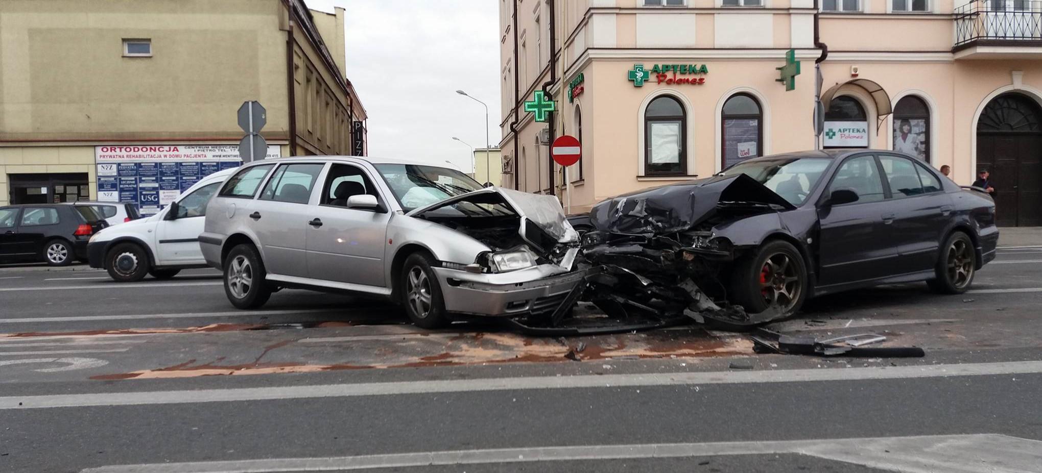 Wypadek w pobliżu Placu Wolności. Spore utrudnienia (FOTO)