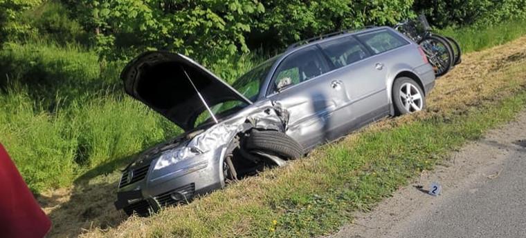 Wypadek w Domaradzu. Jedna osoba ranna (ZDJĘCIA)