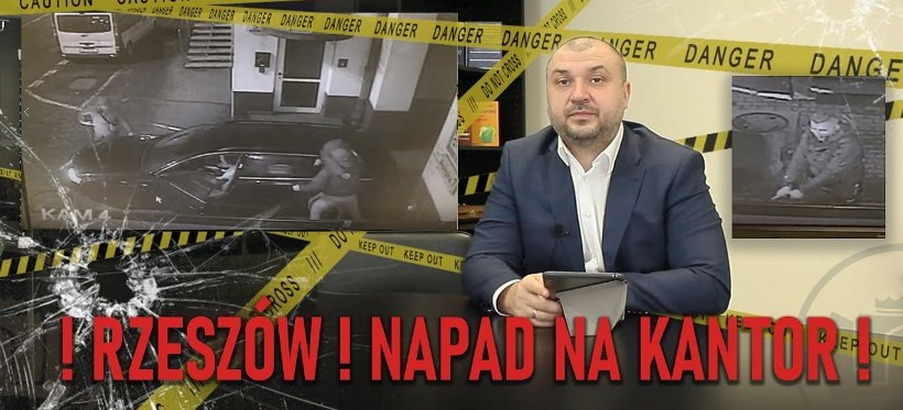 RZESZÓW. Właściciel kantoru przy Asnyka zarzuca policji napad! (WIDEO)