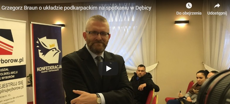 Grzegorz Braun o programie KONFEDERACJI i układzie podkarpackim (VIDEO)