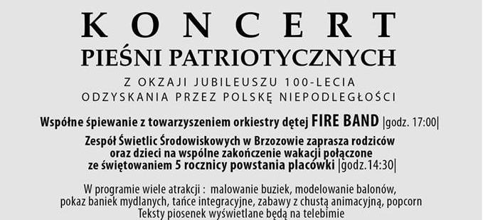 BRZOZÓW: Koncert Pieśni Patriotycznych