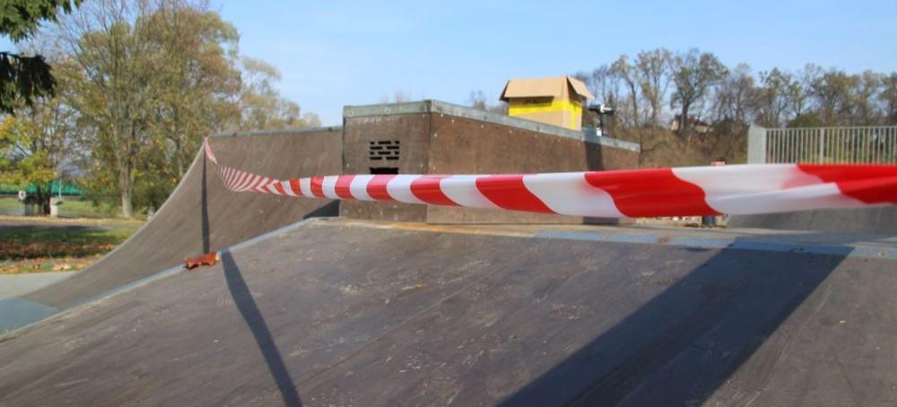 SANOK: Część skateparku wyłączona z użytkowania. Trwa remont (ZDJĘCIA)