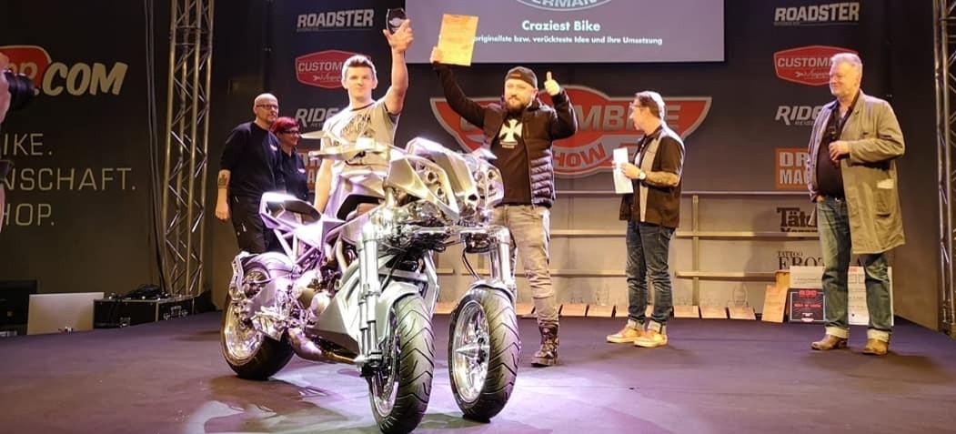 Rzeszowska firma zbudowała pierwszy na świecie customowy motocykl Yamaha Niken! (ZDJĘCIA)