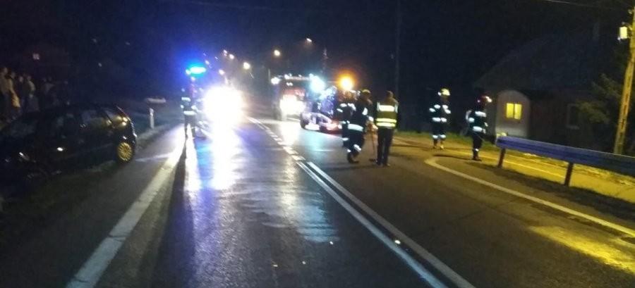 Zderzenie trzech osobówek. Jeden z kierujących był pijany (FOTO)