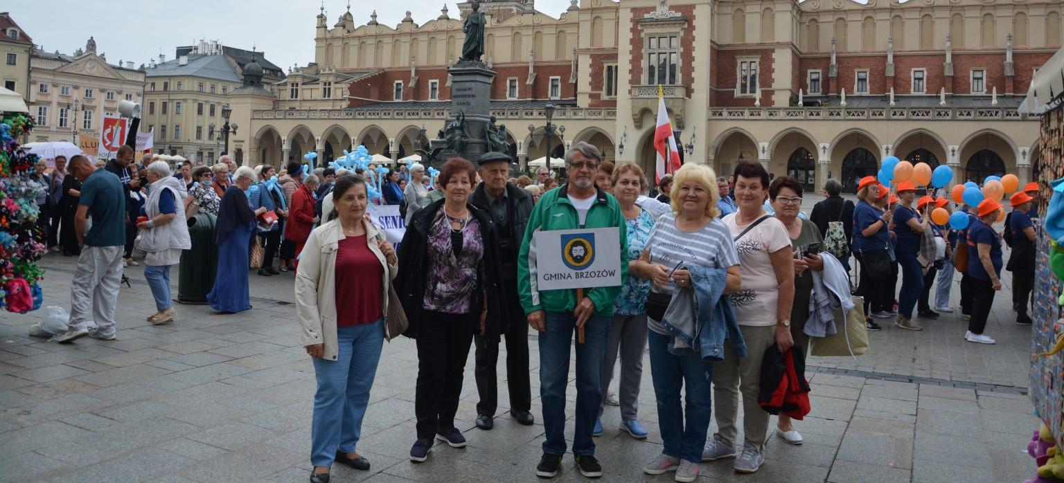 Seniorzy z gminy Brzozów wzięli udział w Międzynarodowych Senioraliach w Krakowie