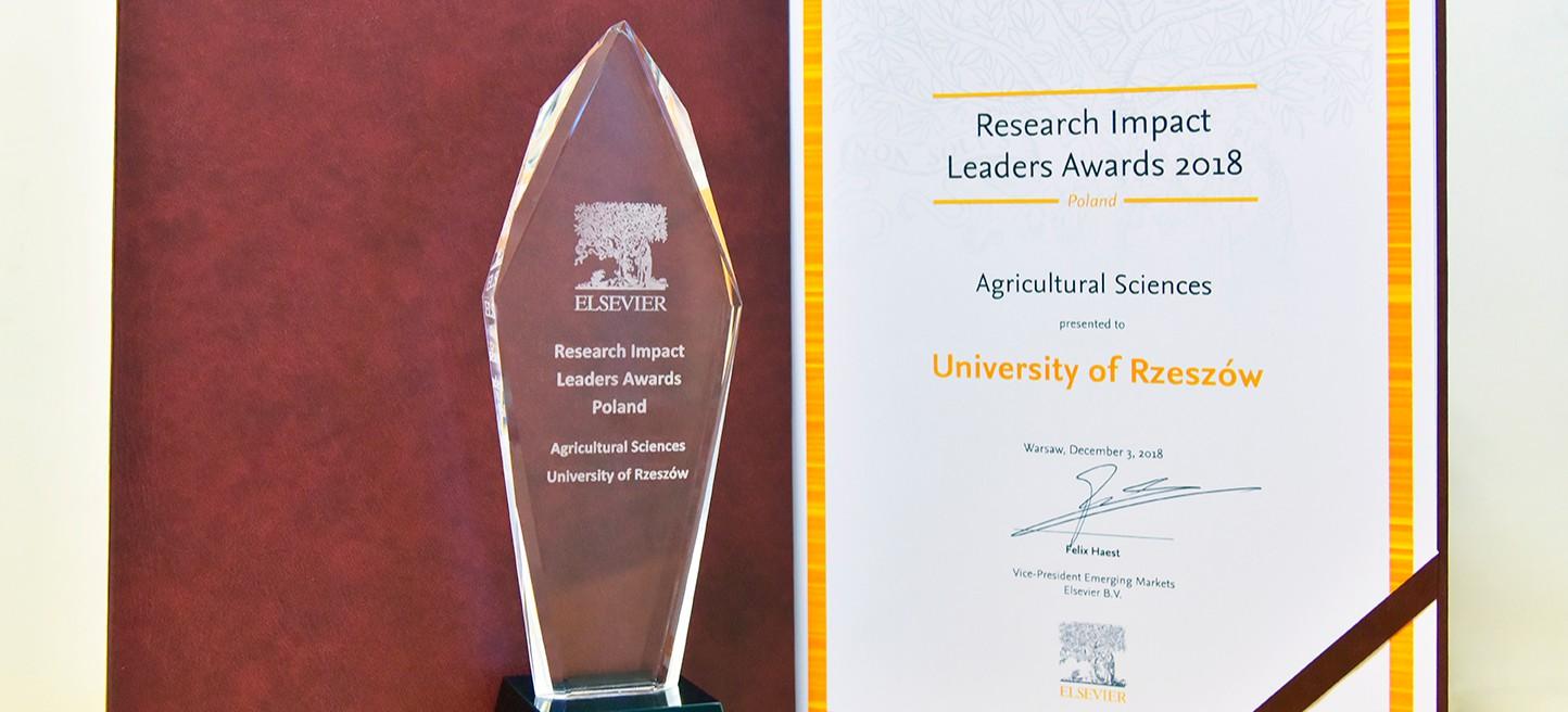 Nagroda dla Uniwersytetu Rzeszowskiego w prestiżowym rankingu ELSEVIER