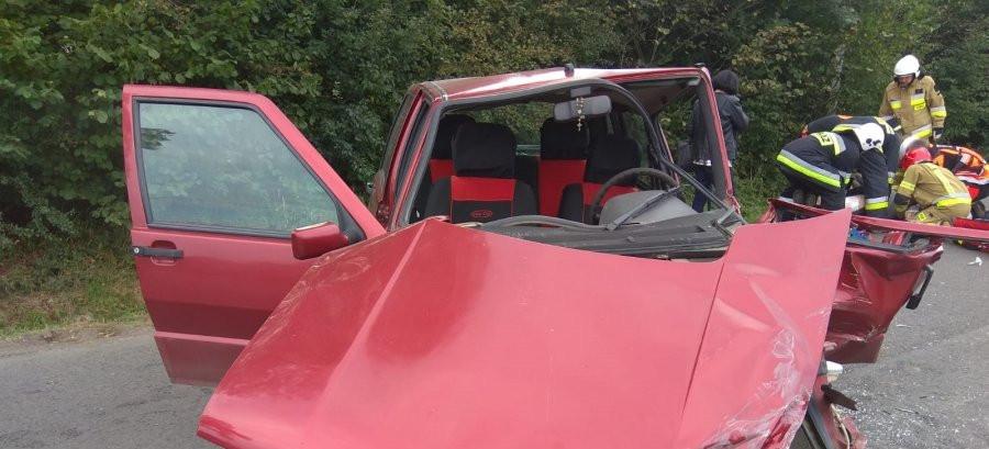 Groźny wypadek. Fiat zderzył się z Fordem