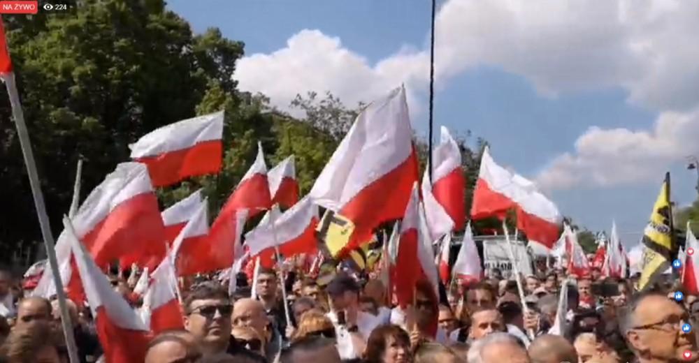 Marsz przeciwko roszczeniom żydowskim Akt. 447 JUST w Warszawie! Transmisja VIDEO LIVE!