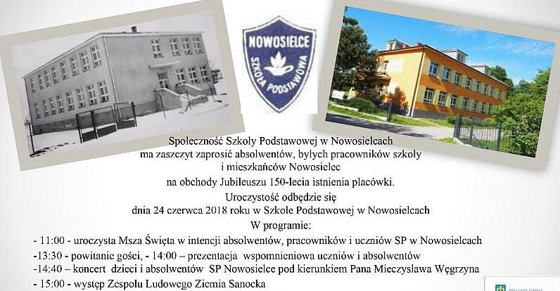 NOWOSIELCE: Jubileusz 150-lecia szkoły podstawowej