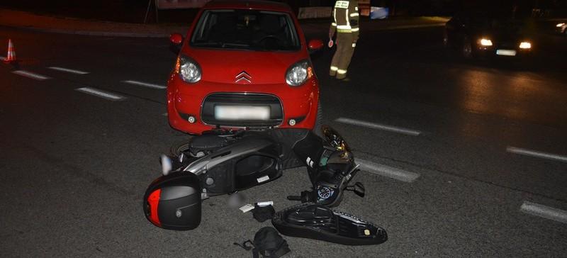 REGION: 31-latka wjechała w motocykl. Kierowca jednośladu w szpitalu (ZDJĘCIA)