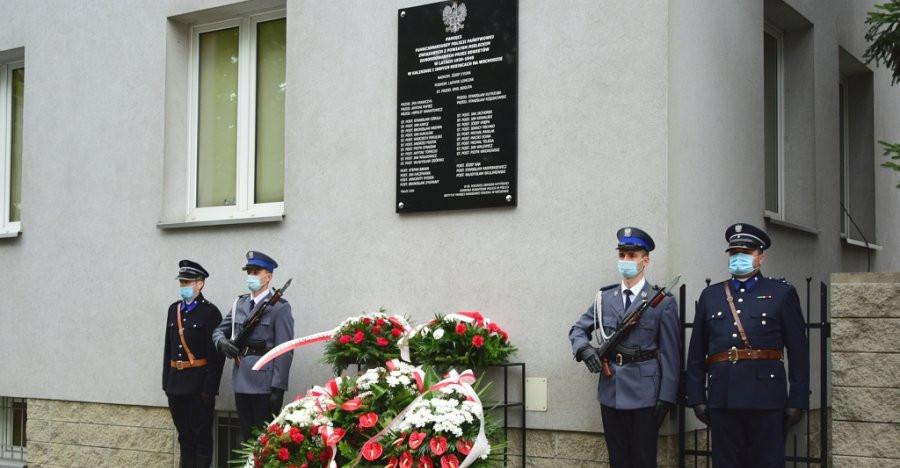 Odsłonięto tablicę upamiętniającą 34 funkcjonariuszy Policji Państwowej zamordowanych na Wschodzie