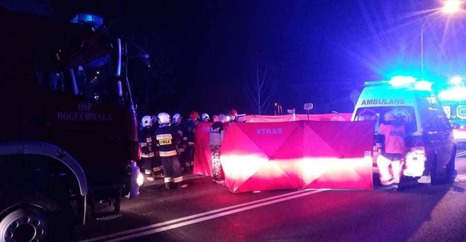 Tragiczny wypadek w Boguchwale. Zginął pieszy, sprawca uciekł (FOTO)
