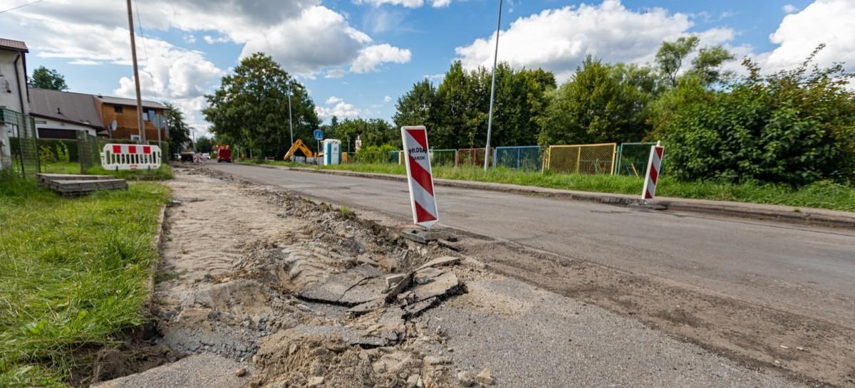 POWIAT SANOCKI: Długo wyczekiwany remont drogi przy szpitalu (ZDJĘCIA)