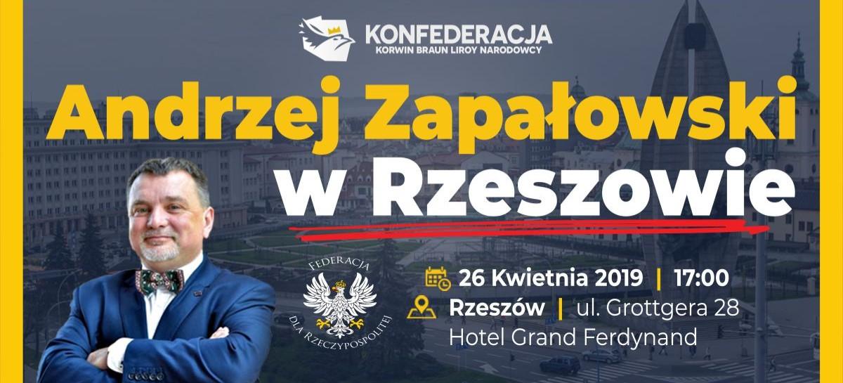 DZISIAJ / RZESZÓW: Spotkanie z cenionym historykiem Andrzejem Zapałowskim