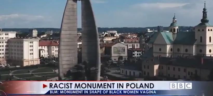 """""""Rasistowski"""" pomnik z Rzeszowa w materiale BBC? (WIDEO)"""