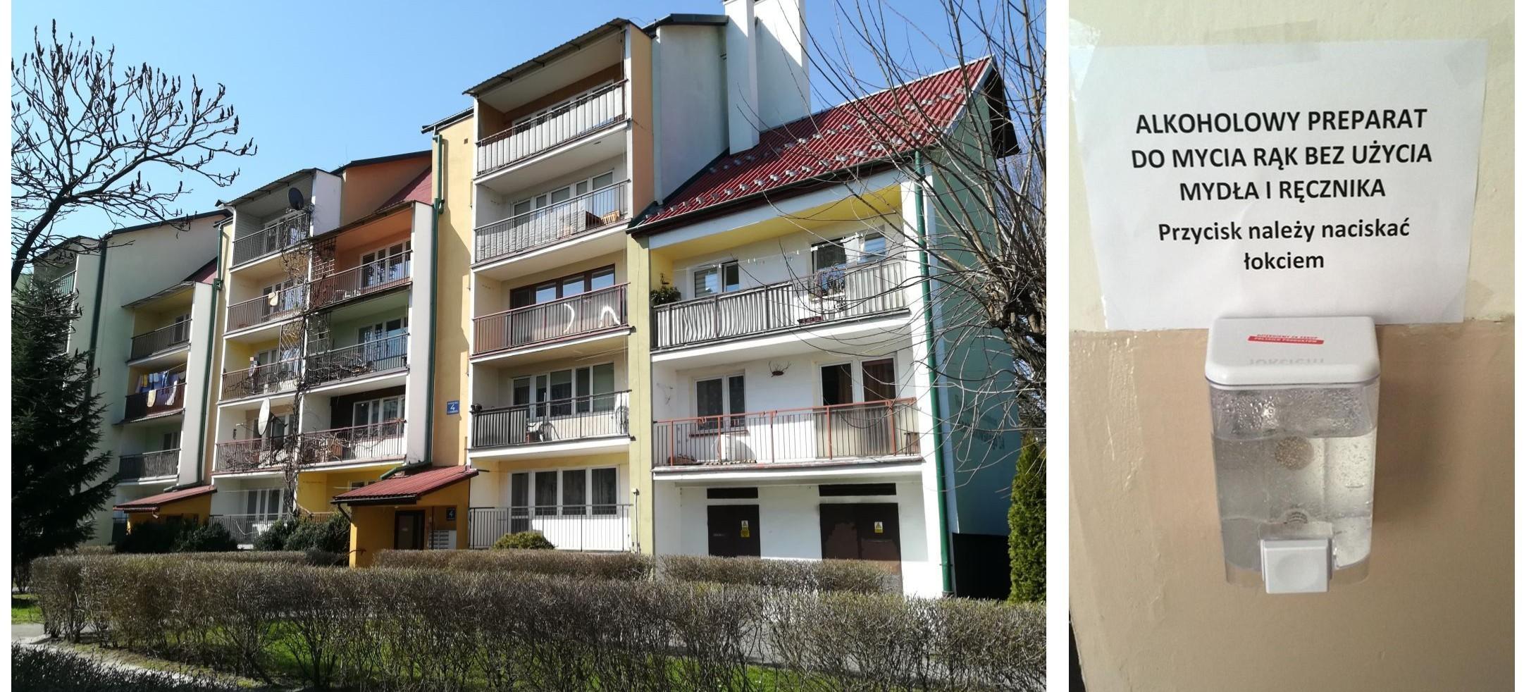 SANOK: Klatki w blokach odkażane codziennie. Dobry przykład wspólnoty z Kochanowskiego