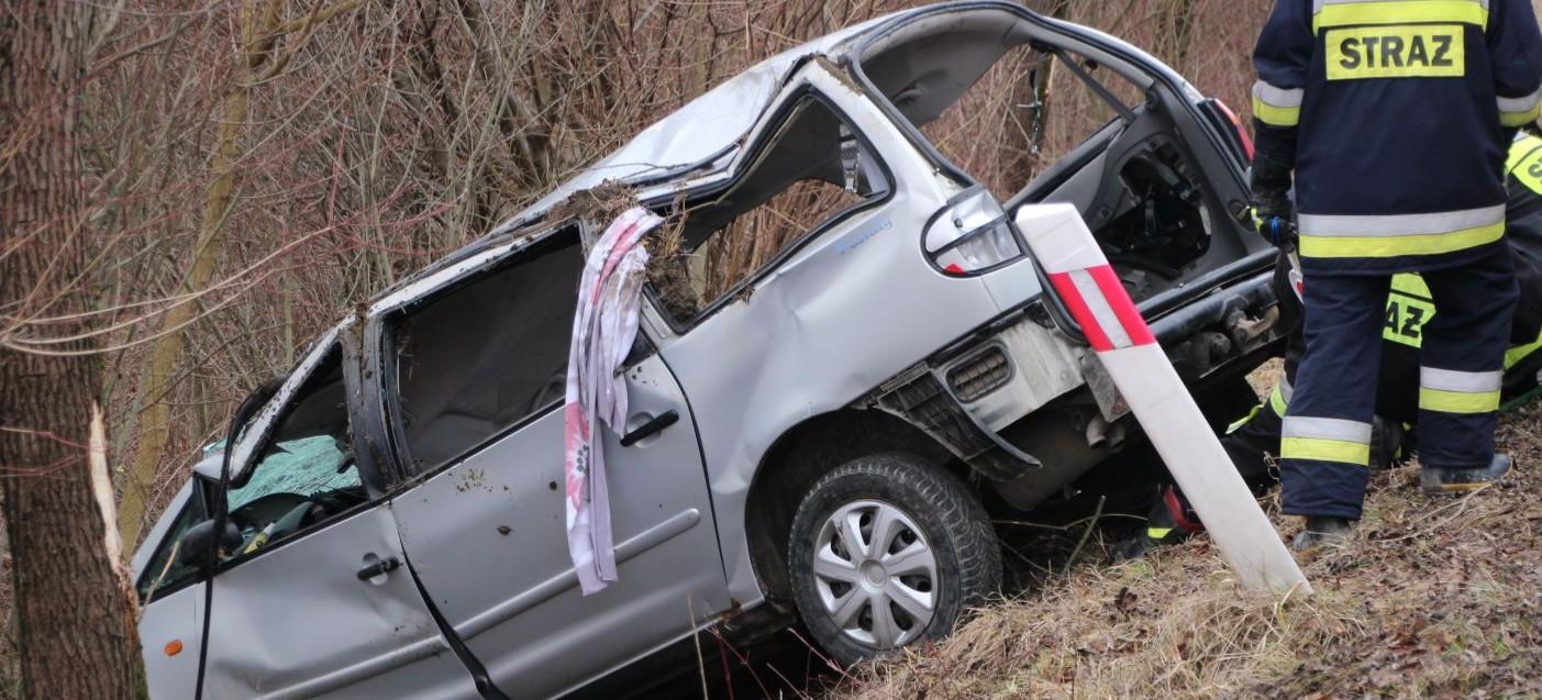 Koszmarny wypadek. Roztrzaskany samochód i liczne obrażenia kierującej (ZDJĘCIA)