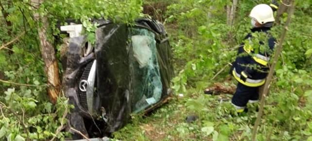31-latek stracił panowanie nad samochodem. Wypadł z drogi (ZDJĘCIA)