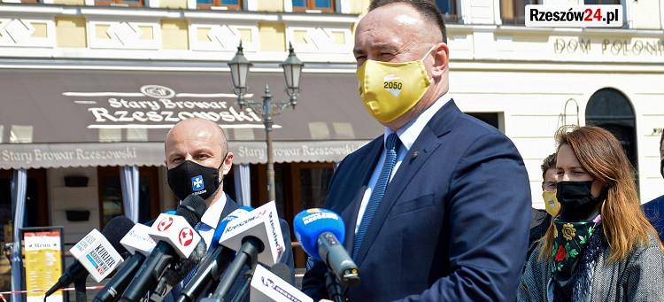Michał Kobosko wsparł Konrada Fijołka: To kluczowy moment w historii Rzeszowa (VIDEO, FOTO)