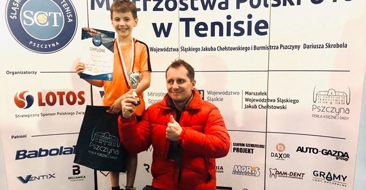 Tenis. Dwa złote medale 9-latka z Rzeszowa! (FOTO)