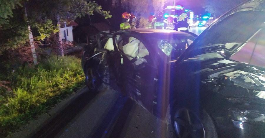 PODKARPACIE. Audi uderzyło w drzewo. W samochodzie pięciu nastolatków (ZDJĘCIA)
