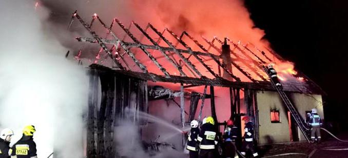 Pożar budynku gospodarczego. Zwierzęta spłonęły żywcem