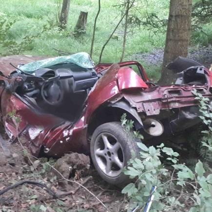 Śmiertelny wypadek w Strzyżowie. Samochód rozbity o drzewo (ZDJĘCIA)