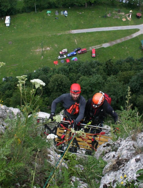 Akcja ratownicza w jaskini i na linach (FOTO)