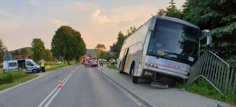 Wypadek autokaru przewożącego dzieci z podrzeszowskiej Malawy! (FOTO)