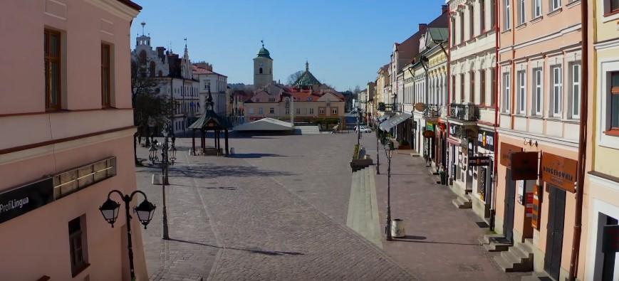 Opustoszały Rzeszów podczas pandemii. Widok z drona (WIDEO)