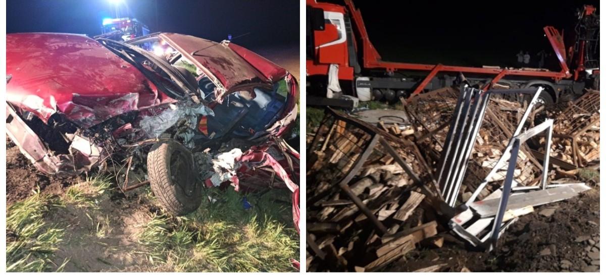 Wjechała pod ciężarówkę! 19-latka w ciężkim stanie (ZDJĘCIA)