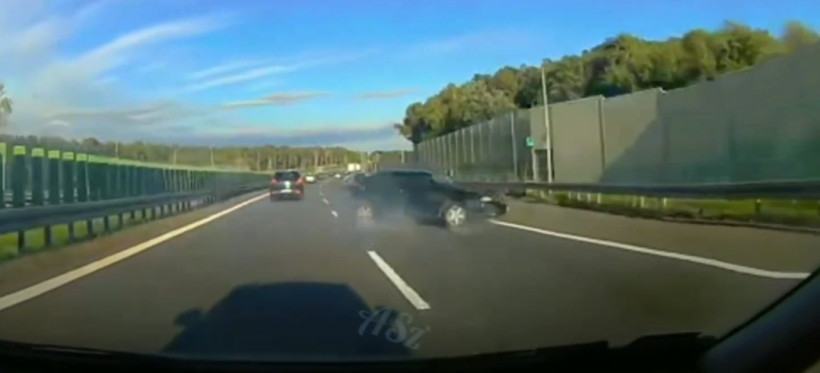 A4 Rzeszów-Kraków: Jazda na zderzaku zakończona kolizją! (WIDEO)