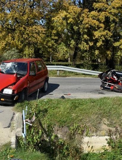 Wypadki z udziałem motocyklistów (ZDJĘCIA)