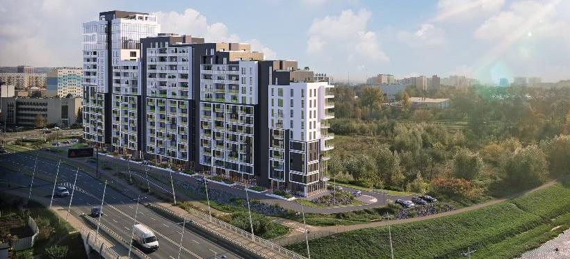 RZESZÓW. Nad Wisłokiem powstaje 17-piętrowy budynek (WIZUALIZACJE)