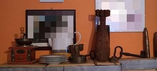 Trzymał granat i amunicję jako ozdoby na kuchni kaflowej (ZDJĘCIA)