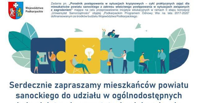 Gmina Sanok zaprasza na nieodpłatne warsztaty edukacyjne